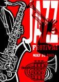 Cartaz com saxohonist Imagem de Stock