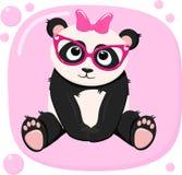 Cartaz com vetor bonito da menina da panda, ilustração, eps ilustração do vetor