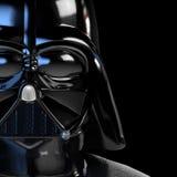 Cartaz 3d da máscara de Vader ilustrado ilustração do vetor