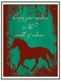 Cartaz da agência de viagens Foto de Stock Royalty Free