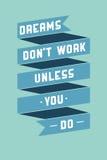 Cartaz da arte com frases inspiradores Fotos de Stock