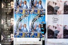 Cartaz da arte da rua Imagens de Stock Royalty Free