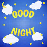 Cartaz da boa noite Fotografia de Stock Royalty Free