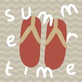 Cartaz da cópia das horas de verão dos deslizadores dos falhanços de aleta imagem de stock