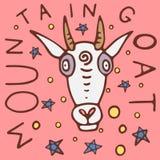 Cartaz da cabra de montanha ilustração stock