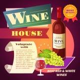 Cartaz da casa do vinho ilustração royalty free