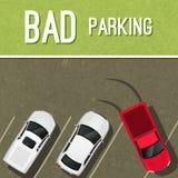 Cartaz da cena do estacionamento Imagens de Stock