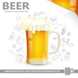 Cartaz da cerveja Fotos de Stock