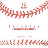 Cartaz da competição do basebol fotos de stock royalty free