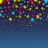 Cartaz da conscientização do autismo ilustração do vetor