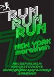 Cartaz da corrida da maratona de New York ilustração stock