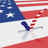 Cartaz da eleição Imagens de Stock Royalty Free