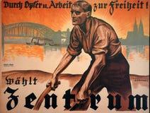 Cartaz 1924 da eleição do alemão Imagem de Stock