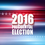Cartaz da eleição presidencial de 2016 EUA Ilustração do vetor Fotos de Stock