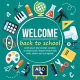 Cartaz da escola Fotos de Stock