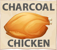 Cartaz da galinha Imagem de Stock