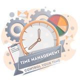 Cartaz da gestão de tempo com pulso de disparo Foto de Stock Royalty Free