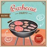 Cartaz da grade do BBQ ilustração stock