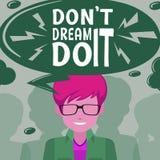 Cartaz da inspiração com imagem e texto Foto de Stock