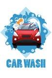 Cartaz da lavagem de carros Foto de Stock