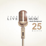 Cartaz da música Imagens de Stock Royalty Free