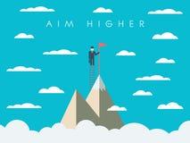 Cartaz da motivação da missão da carreira ou de negócio Foto de Stock