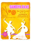 Cartaz da noite de Dandiya Fotografia de Stock Royalty Free