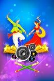 Cartaz da noite de Dandiya Imagem de Stock Royalty Free