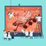 Cartaz da pesquisa de Marte Imagens de Stock Royalty Free