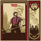 Cartaz da propaganda do vintage ilustração stock
