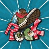Cartaz da rocha do Grunge Imagens de Stock