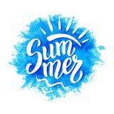 Cartaz da rotulação da escova da tinta do verão Ilustração do Vetor