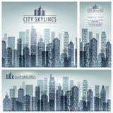 Cartaz da skyline da cidade ilustração stock