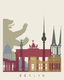 Cartaz da skyline de Berlim Imagem de Stock
