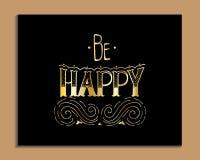 Cartaz da tipografia fotografia de stock royalty free