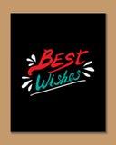 Cartaz da tipografia imagens de stock royalty free
