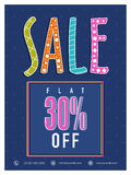 Cartaz da venda, bandeira ou projeto do inseto Fotografia de Stock Royalty Free