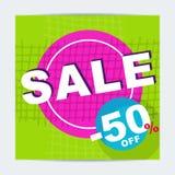 Cartaz da venda brilhante Foto de Stock