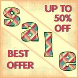 Cartaz da venda com faixa Fotografia de Stock Royalty Free
