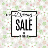 Cartaz da venda da mola Vetor Imagens de Stock Royalty Free