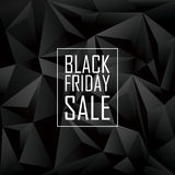 Cartaz da venda de Black Friday Baixo geométrico poligonal Foto de Stock