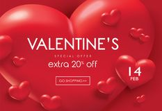 Cartaz da venda do dia de Valentim Imagem de Stock Royalty Free