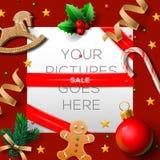 Cartaz da venda do Natal Imagens de Stock Royalty Free