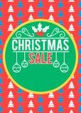 Cartaz da venda do Natal Imagem de Stock Royalty Free