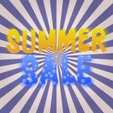 Cartaz da venda do verão Imagem de Stock Royalty Free