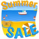 Cartaz da venda do verão Foto de Stock Royalty Free