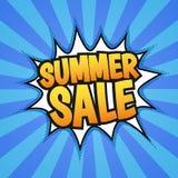 Cartaz da venda do verão Fotos de Stock Royalty Free