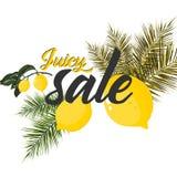 Cartaz da venda do verão com limão, ilustração do vetor ilustração do vetor