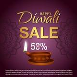 Cartaz da venda para o festival do fundo da celebração de Diwali Fotos de Stock