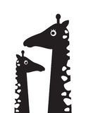 Cartaz das crianças s com uma imagem de um girafa e do girafa do bebê Imagem de Stock Royalty Free